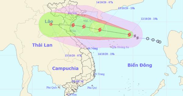 Đêm mai 13-10, bão số 7 đi vào vịnh Bắc Bộ, giật cấp 12 và có khả năng mạnh thêm - tin bão