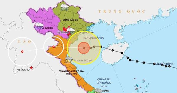 Bão số 7 đang trên biển Thái Bình - Nghệ An, gió giật cấp 10