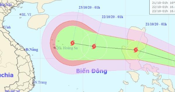 Hai ngày nữa, tâm bão lại cách quần đảo Hoàng Sa 410km, gió giật cấp 11