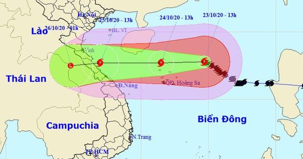 Đêm nay bão số 8 tăng tốc hướng vào đất liền Hà Tĩnh - Thừa Thiên Huế