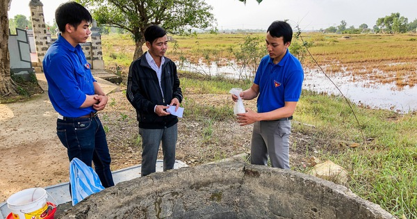 Xử lý nước giếng bị ô nhiễm tại các vùng lũ lụt