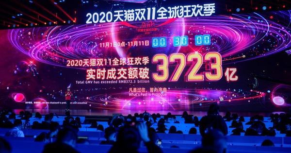 Ngày độc thân 11-11: Alibaba ghi nhận doanh thu kỷ lục 56 tỉ USD trong 10 ngày
