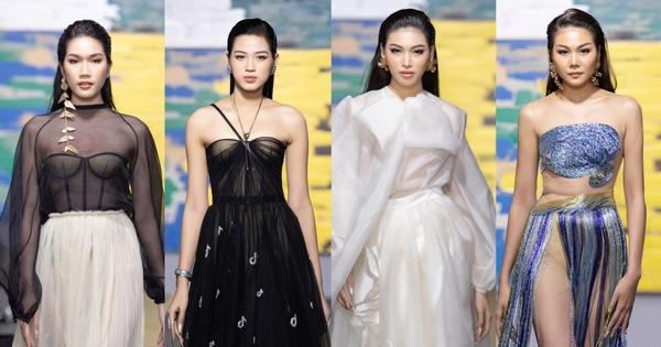 Hoa hậu Việt Nam 2020 Đỗ Thị Hà cùng siêu mẫu Thanh Hằng trong thiết kế tái chế