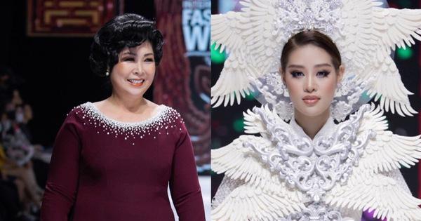 Hoa hậu Khánh Vân làm vedette, NSND Hồng Vân làm người mẫu catwalk cho nhà thiết kế Minh Châu - xổ số ngày 20082019