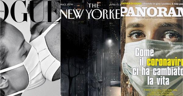 Tạp chí để trắng bìa với thông điệp ấn tượng mùa dịch Covid-19