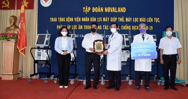 Novaland tặng trang thiết bị y tế đến Bệnh viện Nhân dân 115 - mega 645