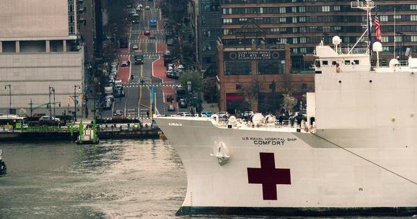 Siêu tàu bệnh viện của hải quân Mỹ khó giúp New York vì không nhận bệnh nhân COVID-19