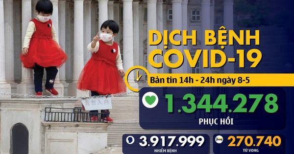 Dịch COVID-19 chiều 8-5: Số ca tử vong ở châu Á vượt 10.000, Việt Nam thêm 8 ca khỏi bệnh