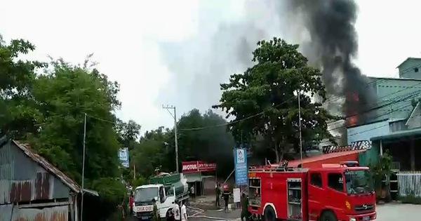 Cháy xe bồn chở xăng, 1 người chết, 2 người bị thương