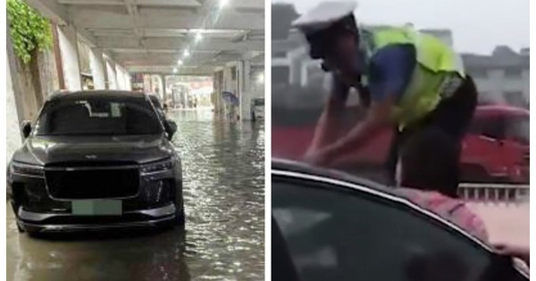 Báo Trung Quốc khuyên người dân 'hễ thấy nước dâng cao thì cứ bỏ xe chạy'