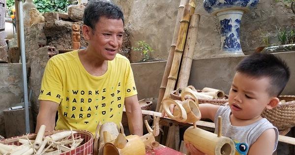 Họa sĩ già ''hô biến'' tre thành món quà tặng trẻ thơ