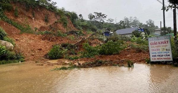 Mưa lớn kéo dài, nhiều tuyền đường ở Lai Châu tê liệt