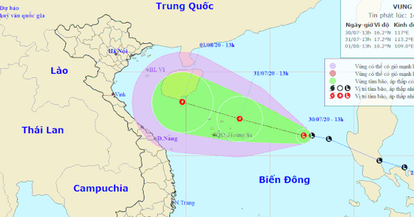 Vùng thấp khả năng mạnh lên thành áp thấp nhiệt đới, gió giật cấp 8