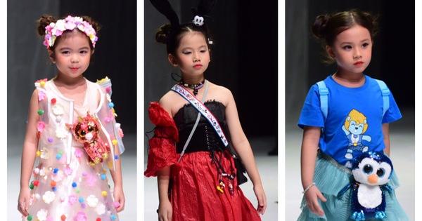 Hoa hậu Khánh Vân diễn thời trang cùng mẫu nhí tại Vietnam Junior Fashion Week