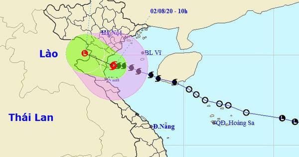 Bão đang ven bờ Thái Bình - Nghệ An, gió giật cấp 10