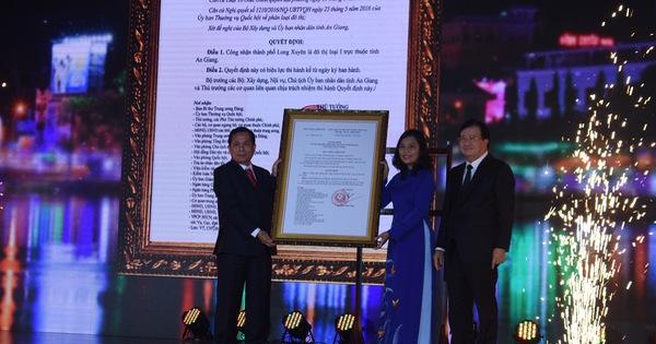 TP Long Xuyên trở thành đô thị loại I trực thuộc tỉnh An Giang