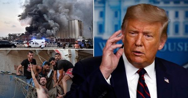 Tổng thống Trump nói nổ lớn ở Lebanon giống một ''vụ tấn công khủng khiếp''