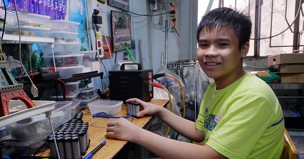 Học trò lớp 6 sáng chế máy tự động chống COVID-19