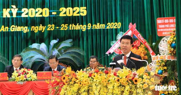 Ông Võ Văn Thưởng dự Đại hội đại biểu Đảng bộ tỉnh An Giang