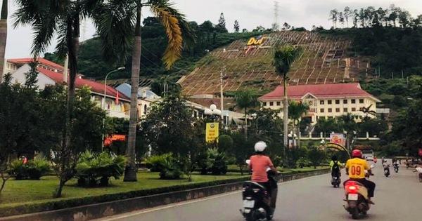 Hòa Bình kiểm tra vụ dựng khẩu hiệu hơn 10 tỉ trên đồi Ông Tượng
