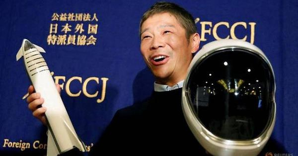 Tỉ phú Nhật bỏ tiền túi mời 8 người ngẫu nhiên đi du hành mặt trăng