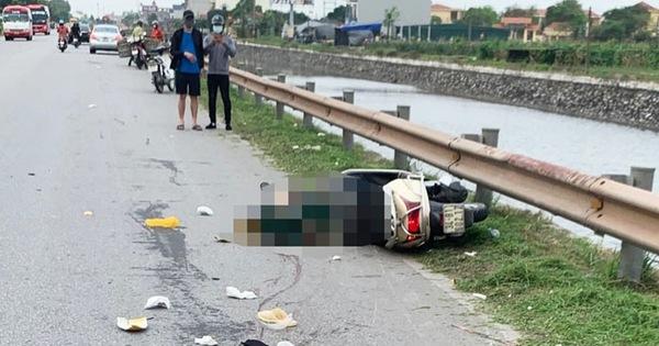 Bị xe container đi cùng chiều tông, đôi vợ chồng chết thảm