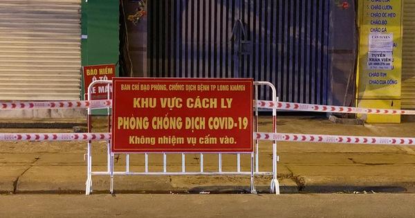 Phong tỏa đoạn đường trước nhà ca dương tính COVID-19 ở Long Khánh 21 ngày