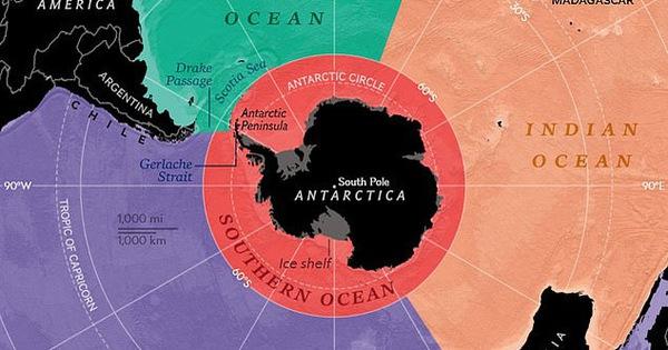 Trái đất chính thức có 5 đại dương