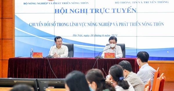 2 bộ trưởng cùng chủ trì hội nghị chuyển đổi số ngành nông nghiệp