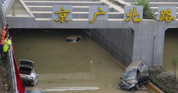 Lũ lụt Trung Quốc: hàng chục người không thoát khỏi đường hầm bị ngập