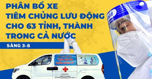Sáng 3-8: Thêm 3.578 ca mắc COVID-19, hôm qua là ngày tiêm vắc xin nhiều nhất tới nay