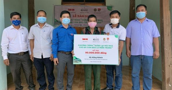 Hoàn thành bàn giao 10 căn nhà cho bà con vùng lũ, sạt lở ở Quảng Nam